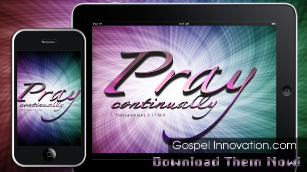 Pray Continually by Bible Lock Screens