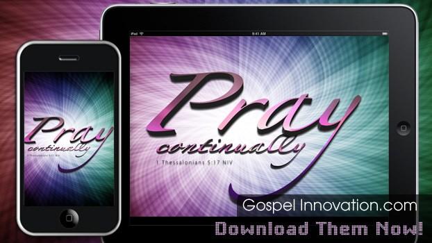 Pray Continually by Bible Lock Screens